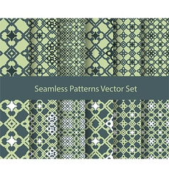 oriental seamless patterns vector image