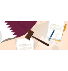 qatar law constitution legal judgment justice vector image vector image