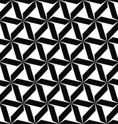 Seamless monochromatic geometric pattern vector image vector image