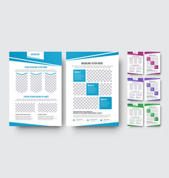 set of flyers with abstract diagonal design vector image