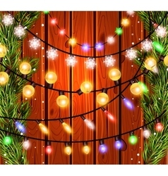 Christmas decorations glowing lights effects for vector image