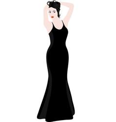 elegant woman vector image