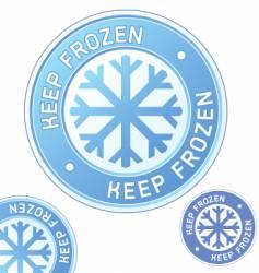 keep frozen food label vector image vector image