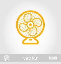 Ventilator outline icon summer vacation vector