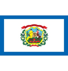 West Virginia flag vector image vector image