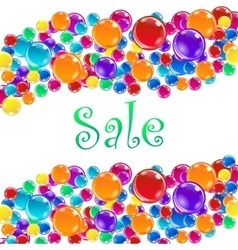 Word Sale and baloons vector image