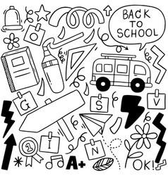 01-09-008 hand drawn set school icons vector