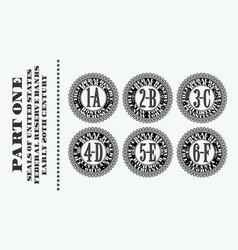 A set retro seals printed on early twentieth vector