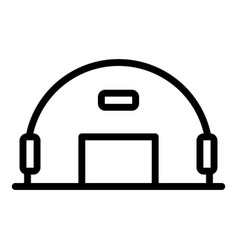 Army hangar icon outline style vector