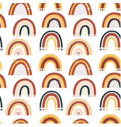 barainbow seamless pattern vector image