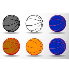 basketball ball - set vector image