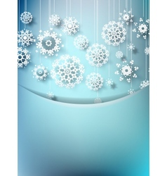 Blue christmas card with snowflakes EPS10 vector