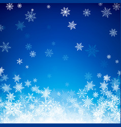 blue christmas snowflakes background falling vector image