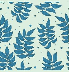 blue color seamless pattern elegant pattern vector image