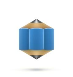 Blue hexagonal pencil vector
