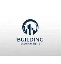 Building logo creative logo city logo vector