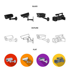 Camcorder and camera sign vector