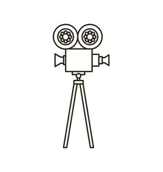 camera cinema flat line icon vector image