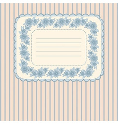 Card with floral frame vector image