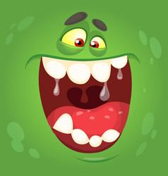 cartoon halloween monster face vector image