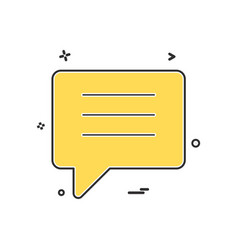 chat talk bubble icon design vector image
