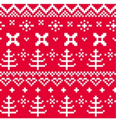 Christmas Norwegian seamless knitting pattern vector