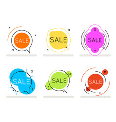 circular abstract line art sale banner card vector image