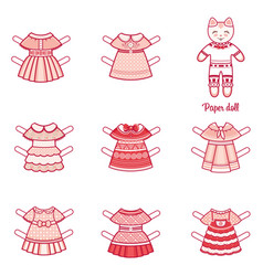 clothes pack for little animalseerie vector image