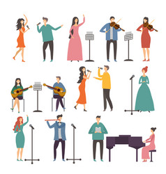 Concert and music groups vocal duets musician vector