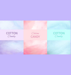 Cotton candy backgrounds in purple pink and blue vector
