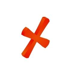 Cross mark icon isometric 3d style vector image