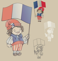 cute smiling cartoon young man in sans culottes vector image