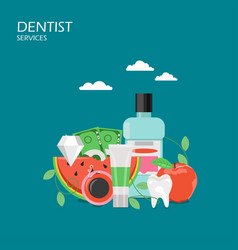dentist services flat style design vector image