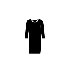 dress icon on white background clothing or vector image