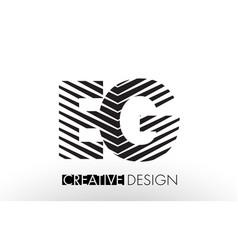 Eg e g lines letter design with creative elegant vector