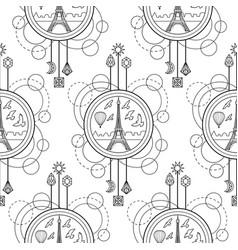 Eiffel tower seamless pattern vector