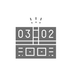 Electronic sports scoreboard gray icon isolated vector