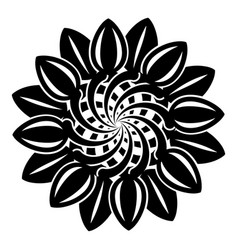 flower graphic icon simple style vector image
