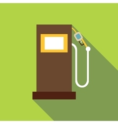 Gas station icon flat style vector