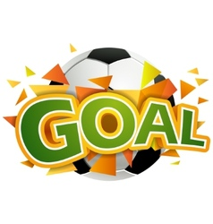 Goal with football ball vector