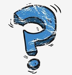 grunge cartoon question mark vector image