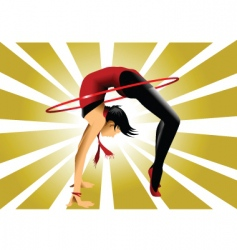 gymnastic bridge vector image