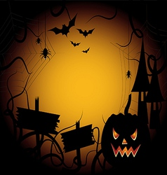 Halloween pumpkin background card invitation vector