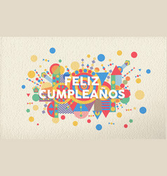 happy birthday greeting card in spanish language vector image