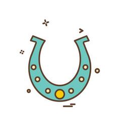 horse shoe icon design vector image