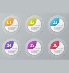 infographic elements set workflow layout vector image