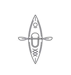 Kayak top view line style vector