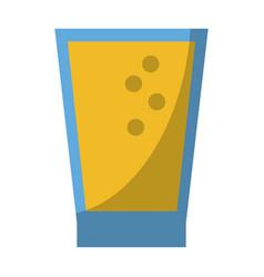 lemonade juice glass cup vector image