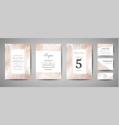 luxury wedding save the date invitation cards vector image