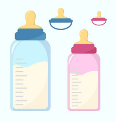 nutrition container for a newborn nipple set vector image